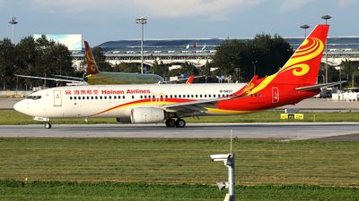 A picture of B5637 - Boeing 73784P - Hainan Airlines - © Liu Yonggang