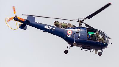 IN431 - Hindustan Aeronautics SA 316B Chetak - India - Navy