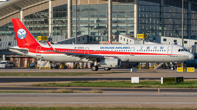 A picture of B300A - Airbus A321231 - Sichuan Airlines - © atc1110