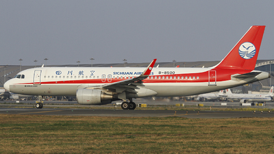A picture of B8500 - Airbus A320214 - Sichuan Airlines - © zjs