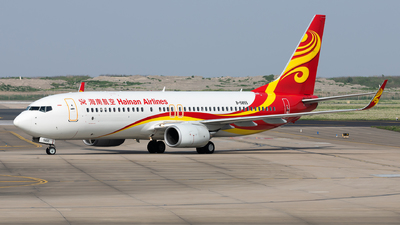 A picture of B5855 - Boeing 73784P - Hainan Airlines - © Lazy Clutch