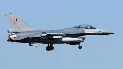 FA-91 - General Dynamics F-16AM Fighting Falcon - Belgium - Air Force