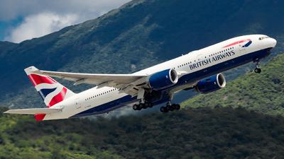 A picture of GYMME - Boeing 777236(ER) - British Airways - © Jack Sin - HKPSA