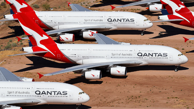 A picture of VHOQK - Airbus A380842 - Qantas - © Rocky Wang