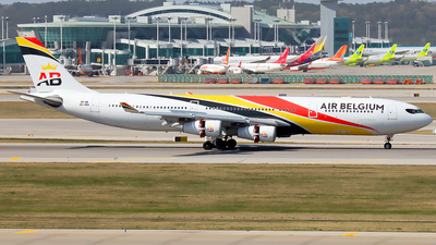 A picture of OOABA - Airbus A340313 - Air Belgium - © YoungKyun Shin