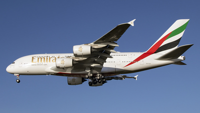 A picture of A6EUV - Airbus A380842 - Emirates - © Paul Spijkers