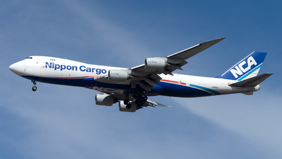A picture of JA15KZ - Boeing 7478KZ(F) - Nippon Cargo Airlines - © Mingfei S