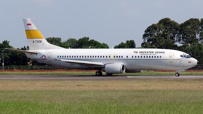 A-7306 - Boeing 737-4U3 - Indonesia - Air Force