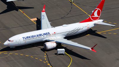 A picture of TCLCP - Boeing 737 MAX 8 - Turkish Airlines - © Huy Do