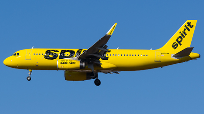 A picture of N695NK - Airbus A320232 - Spirit Airlines - © Evan Dougherty