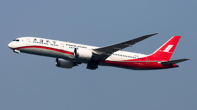A picture of B1113 - Boeing 7879 Dreamliner - Shanghai Airlines - © Lazy Clutch