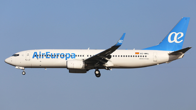 A picture of ECMKL - Boeing 73785P - Air Europa - © Eric Boettcher