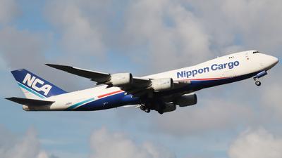 A picture of JA13KZ - Boeing 7478KZ(F) - Nippon Cargo Airlines - © Neo Mei ZSPD