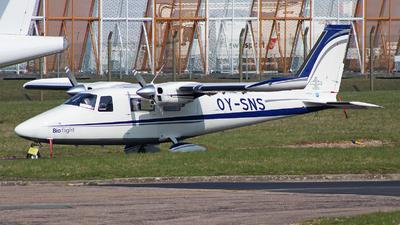 OY-SNS - Vulcanair P.68C - Bio flight