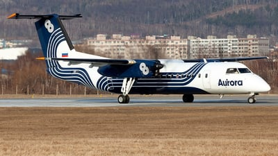 A picture of RA67253 - De Havilland Canada Dash 8300 - Aurora - © Arkady Perevoznikov
