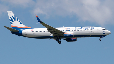 A picture of TCSOE - Boeing 7378HC - SunExpress - © Timo Duda