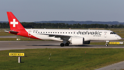A picture of HBAZF - Embraer E190E2 - Helvetic Airways - © Domi Einert