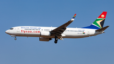 ZS-SJC - Boeing 737-85F - South African Airways