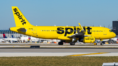 A picture of N641NK - Airbus A320232 - Spirit Airlines - © Haocheng Fang