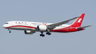 A picture of B1111 - Boeing 7879 Dreamliner - Shanghai Airlines - © StephenLian-NGB