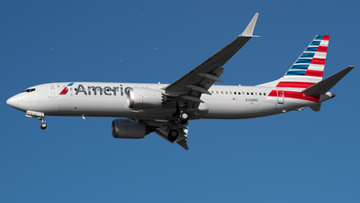 A picture of N308RD - Boeing 737 MAX 8 - American Airlines - © JTPAviation