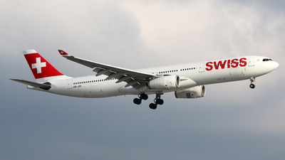 A picture of HBJHI - Airbus A330343 - Swiss - © Brian T Richards