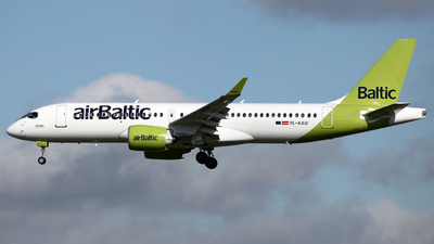 A picture of YLAAU - Airbus A220300 - Air Baltic - © Peter Baldwin