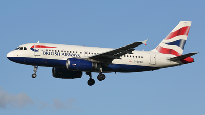 A picture of GEUOG - Airbus A319131 - British Airways - © Peter Baldwin