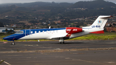 A picture of LXRSQ - Learjet45 - Luxembourg Air Ambulance - © Calco7
