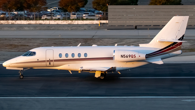 A picture of N569QS - Cessna 680A Citation Latitude - NetJets - © Ricky Teteris