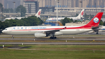 A picture of B8690 - Airbus A330343 - Sichuan Airlines - © Eric Wang