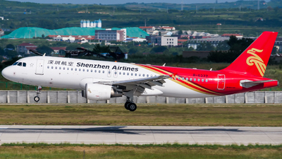 A picture of B6377 - Airbus A320214 - Shenzhen Airlines - © YNTer2021