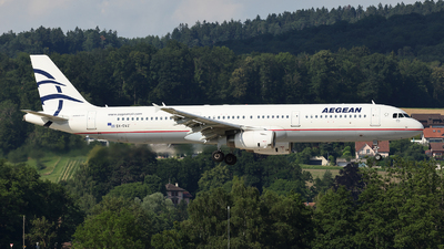 A picture of SXDVZ - Airbus A321231 - Aegean Airlines - © Tomasz Habaj