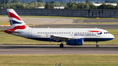 A picture of GEUOE - Airbus A319131 - British Airways - © Ervin Eslami | UK Jets