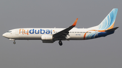 A picture of A6FEE - Boeing 7378KN - FlyDubai - © Akshay M