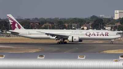 A picture of A7BEK - Boeing 7773DZ(ER) - Qatar Airways - © X Pan