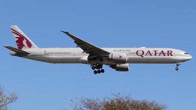 A picture of A7BAE - Boeing 7773DZ(ER) - Qatar Airways - © Andriy Yegorov