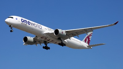 A picture of A7ANE - Airbus A3501041 - Qatar Airways - © Yi-Fan Wu