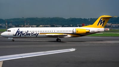 N108ML - Fokker 100 - Midway Airlines