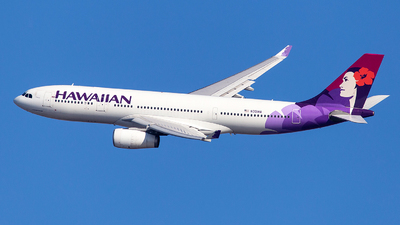 A picture of N391HA - Airbus A330243 - Hawaiian Airlines - © Wenjie Zheng