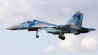 74 - Sukhoi Su-27UB Flanker C - Ukraine - Air Force