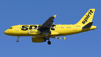 A picture of N504NK - Airbus A319132 - Spirit Airlines - © DJ Reed - OPShots Photo Team