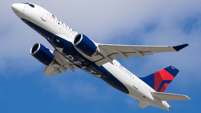 A picture of N132DU - Airbus A220100 - Delta Air Lines - © Stephen J Stein