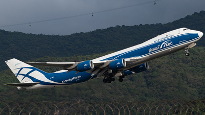 A picture of VQBFE - Boeing 74783Q(F) - AirBridgeCargo Airlines - © Thomas Shum - Skies of Pearl
