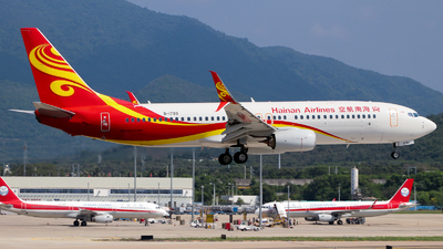 A picture of B1799 - Boeing 73784P - Hainan Airlines - © GZH