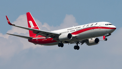 A picture of B7636 - Boeing 73789P - Shanghai Airlines - © fennuyangyang