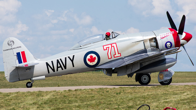 N71GB - Hawker Sea Fury T.20 - Private