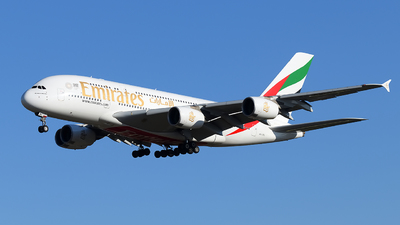 A6-EDL - Airbus A380-861 - Emirates