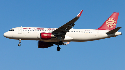 A picture of B8536 - Airbus A320214 - Juneyao Airlines - © Jiaming