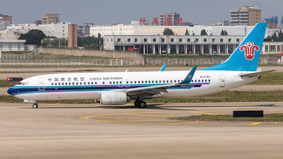 A picture of B5742 - Boeing 73781B - China Southern Airlines - © Yan Shuai